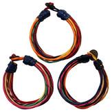 Läderarmband multifärgat